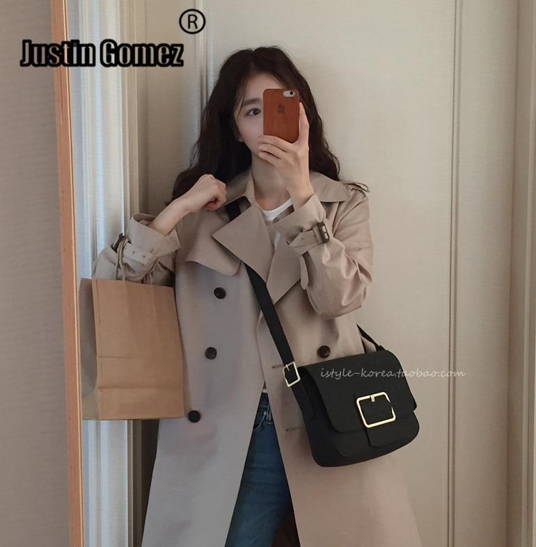 High Quality Clothes Solid Straight Lady Korean Fashion Woman Coats   Trench   Temperament Thin Long Windbreaker Casacos Femininos