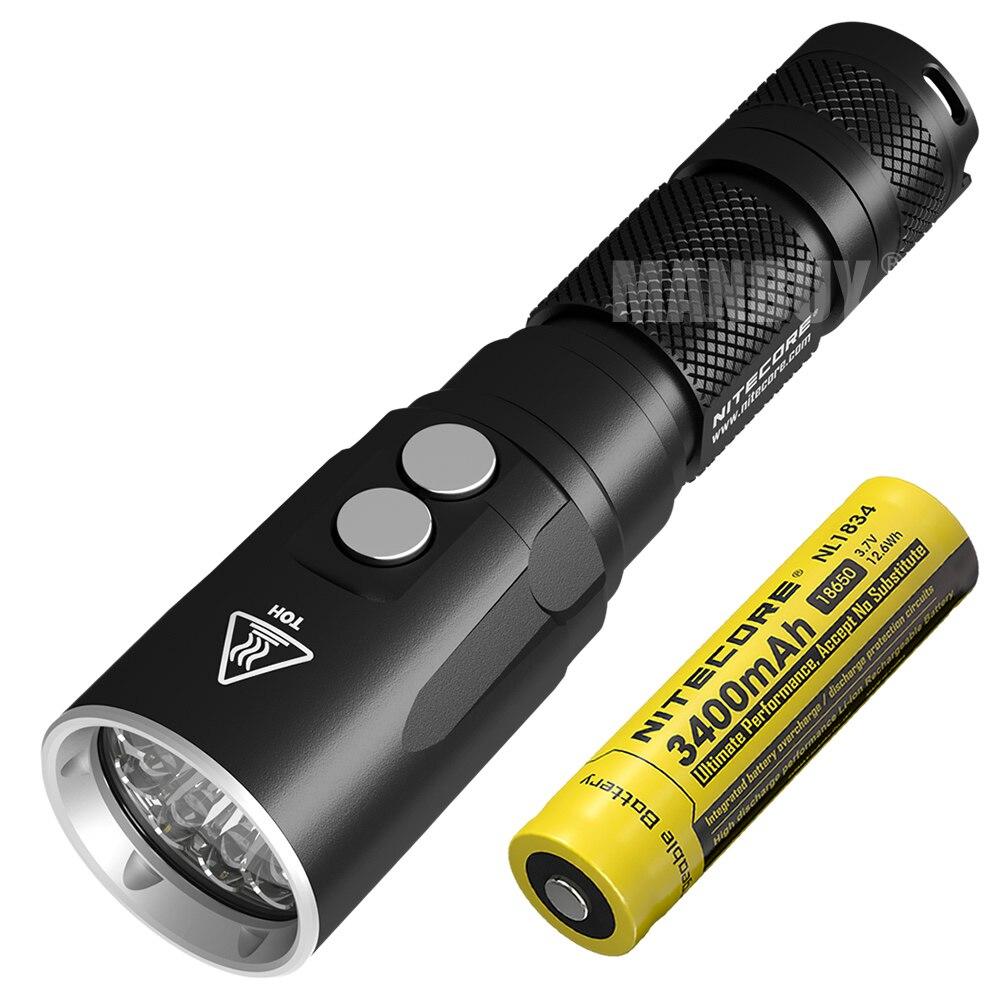 Оптовая продажа nitecore DL20 светильник для дайвинга + NL1834 перезаряжаемый аккумулятор 1000 люмен светодиодный светильник для подводной съемки 100 м...