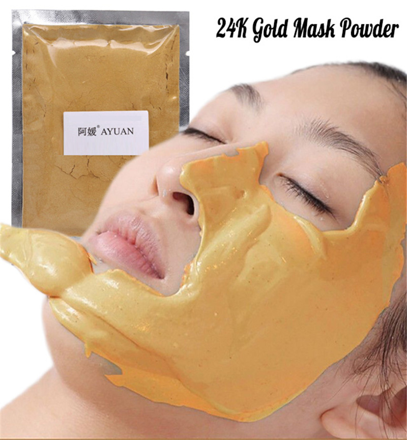 Collagen Hyaluronic Acid Face Mask Powder Whitening Moisturizing DIY SPA Anti Aging Wrinkle Treatment Facial Masks Golden Mask