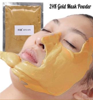 Collagen Hyaluronic Acid Face Mask Powder Whitening Moisturizing DIY SPA Anti Aging Wrinkle Treatment Facial Masks Golden Mask цена 2017