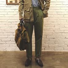 Red Tornado Vintage Style British Gurkha Pants Pleated Men Smart Casual Trousers