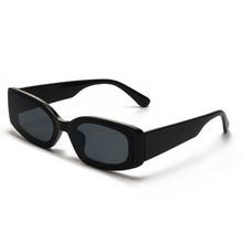 Vintage małe okulary przeciwsłoneczne dla mężczyzn kobiety Retro marka projektant prostokąt okulary odcienie gradientowe klasyczne okulary przeciwsłoneczne UV400 tanie tanio CN (pochodzenie) HY306 51mm 40mm Black frame sun glass leopard frame sun shade Plastic sun glasses UV400 lens glasses Rectangle eyewear