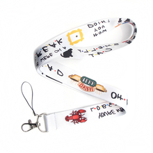CA249 vente en gros 10 pièces/lot amis TV porte clés longes Id porte Badge carte didentité passe téléphone portable USB porte Badge clé sangle 1 pièces