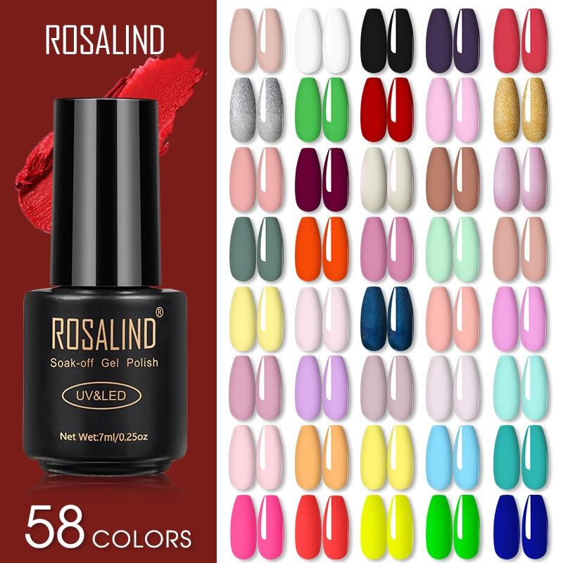 Rosalind esmalte de unha em gel semipermanente, para manicure com base fosca, semipermanente gellak