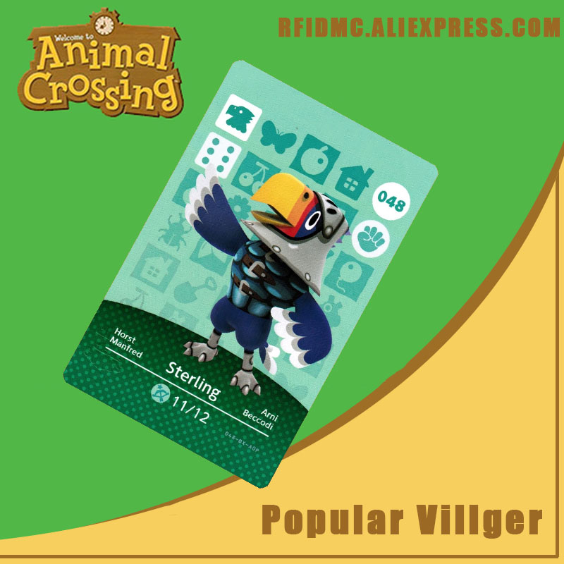 048 Sterling Animal Crossing Card Amiibo For New Horizons