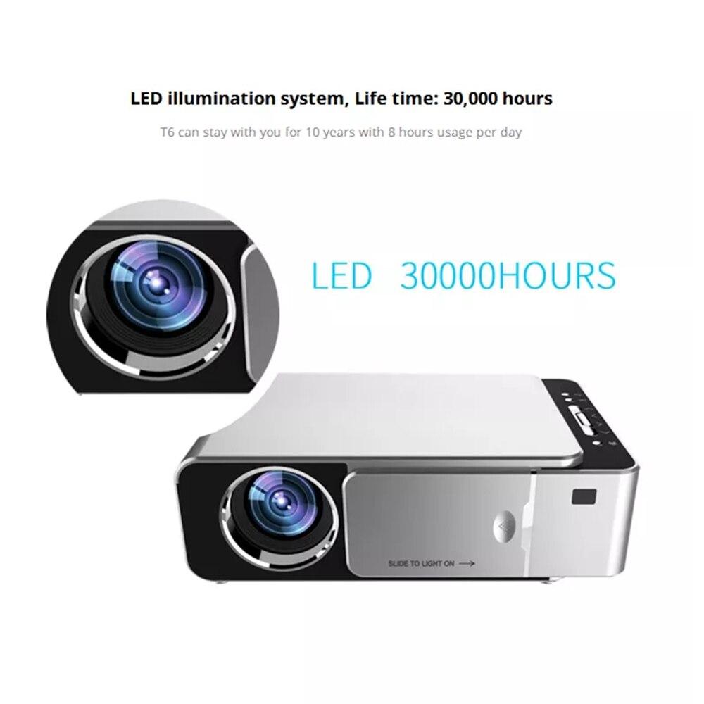 3500 люмен T6 1080P светодиодный проектор 1280x720 портативный проектор Android 7,1 USB HDMI VGA AV домашний кинотеатр wifi 2,4G 5G