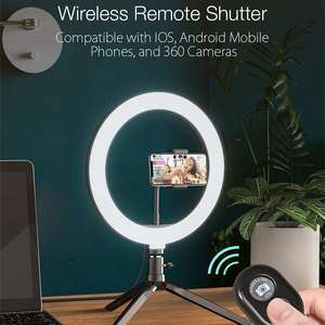 Image 2 - BlitzWolf BW SL3 fotoğraf fotoğraf stüdyosu flaş LED telefon tutucu özçekim sopa bluetooth uzaktan canlı çıkarılabilir Tripod standı