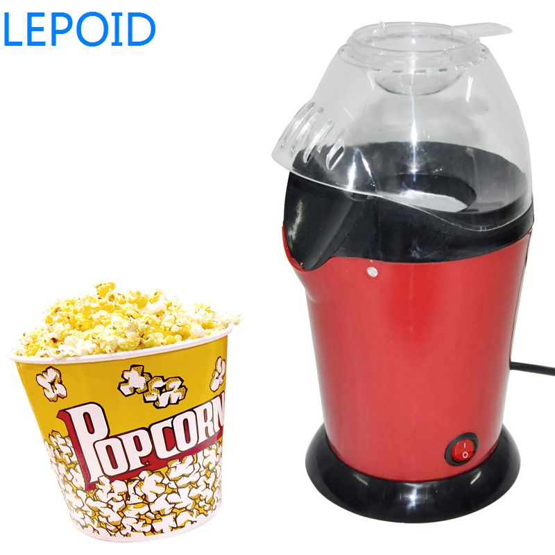 Lepoid Mini Household Pipoqueira Hot Air Oil-Free Popcorn Maker Machine Corn Popper Maquina For Home Party