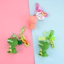2019 New Cartoon Anime Dinosaur Cute Pink Pigs Pendants Keychain Bag Gifts Kids Party Men Or Women Girl Key Chain