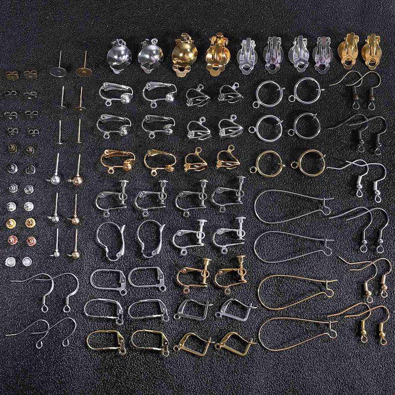 DIY Handmade Alloy Earring Backs Bullet Stoppers Earnuts Earring Back Plugging Blocked Back DIY Jewelry Making Accessories