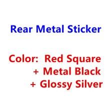 Красный, черный, серебристый металлический 3D стикер, аксессуары для стайлинга автомобиля для Audi R S Q 3 4 5 6 7 8, значок на задний багажник автомо...