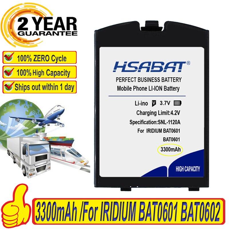 Top Brand 100% New 3300mAh Li-ion Satellite Phone Battery for IRIDIUM BAT0601 BAT0602 Batteries(China)