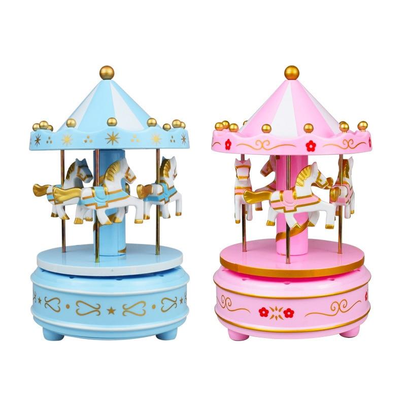 1pcs/17*11cm Birthday Cake Decoration Carousel Music Box Birthday Party Wedding Party Decoration Ornaments Kids Love