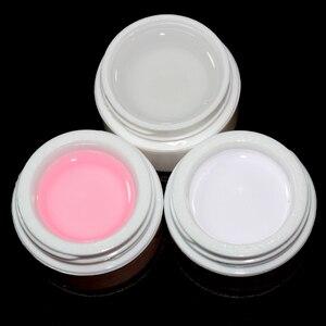 Image 2 - Uvゲルセットトップコートピンク透明 3 色uvジェルビルダーガラスカップネイルアートのヒントジェルネイルマニキュア延長