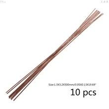 Welding-Rods Copper Silver Electrode Brazing Selffluxing Low-Temperature Soldering 10pcs