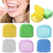 6 kolorów fałszywe zęby ortodontyczne przypadku protezy ustalający ochraniacz na zęby protezy plastikowe pudełko do przechowywania higiena jamy ustnej dostarcza organizator tanie tanio CN (pochodzenie) HJ43316 Z tworzywa sztucznego Ekologiczne Skrzynki i pojemniki Other 9-14 sztuk cukierków Alps Candy Europejska