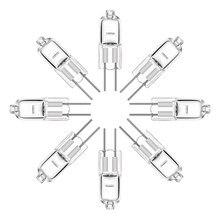 10 pçs/lote branco quente 2900k lâmpada halógena grânulos g4 12v 5w 10 20 35 50 g4 lâmpadas halógenas luz globo lote jc bi-pino lâmpada led