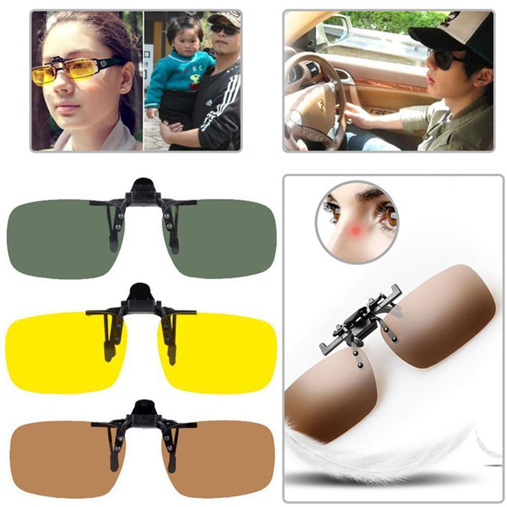 42g Nearsightedness Clips Sunglasses Clip Eyewear Accessories Sun Visor Eyeglasses Box Cleaning Cloth Car