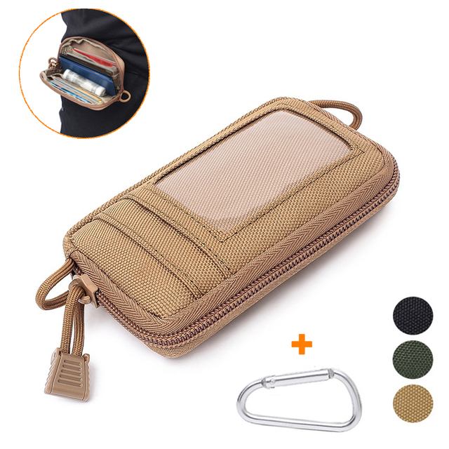 Tactical Wallet Card Bag Muti-functional Key Money Pouch Military Wallet Waist Pack for Outdoor Sports Hunting Accessory Bag 1