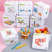 Baby Kids DIY Cognition Puzzles Toy Toddler Iron Box Early Learning Education Intelligence Wooden Blocks Toys For Children Gifts цена 2017