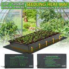 Нагреватель для рассады коврик для прорастания семян растений размножение клон стартер теплый коврик 24x52 см растительные цветы садовый инструмент принадлежности