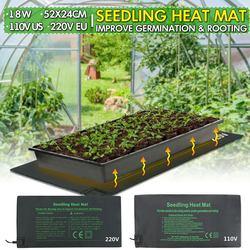 모종 열 매트 식물 씨앗 발아 전파 클론 스타터 따뜻한 패드 매트 24x52cm 야채 꽃 정원 도구 용품