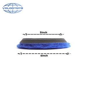 Image 4 - Volodymyr وسادة تلميع 6 بوصات مع خطاف وحلقة ، ملحق تلميع السيارة ، أزرق ، مع خطاف 5 بوصات