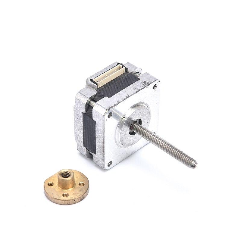 Mikro silnik krokowy 35mm 2-fazowy 6-Wire kąt kroku: 1.8 stopni z podwójne łożysko kulkowe NEMA 14 silnika 64mm długa śruba pręt wału