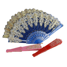 1Pc Creative Chinese Style Ladies Folding Hand Fan for Dance Wedding Party Decoration
