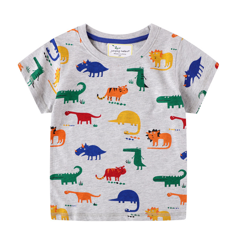Jumping Meters New Arrival Children Animals T shirts Summer Boys Girls Cotton Tees Dinosaurs Boys Tops 2-7T Clothing 1