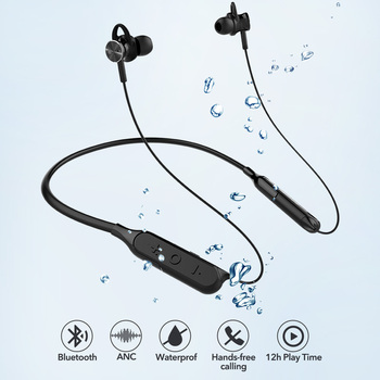 Mixcder RX Active Noise Cancelling Earphone Wireless In-ear Bluetooth Earbuds with Neckband Mic for Outdoor Sports Running