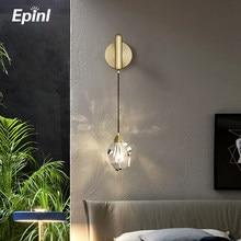 Epinl Modern Wall Light Crystal Lights Dining Parlor Lamp Bedroom Restaurant Living Room Aisle Home Decor Wall Lamp Luxury Light