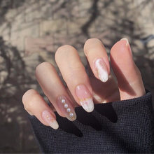 24 шт французские накладные ногти искусство 3d жемчужные для