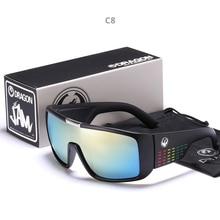 Wiatroszczelna lustrzane soczewki mężczyźni smok obsługi DOMO jazdy wędkowanie okulary przeciwsłoneczne kwadratowe okulary dla mężczyzn UV400 lato odcienie okulary