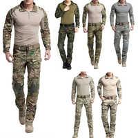 Uniforme militar táctico para hombre, traje de caza, ropa de camuflaje del ejército de caza, camisa de combate militar, pantalones tácticos