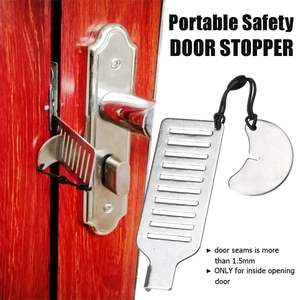 Storage-Bag-Kit Door-Stopper Security-Tools Portable Gate-Lock Hotel Travel Safety Office