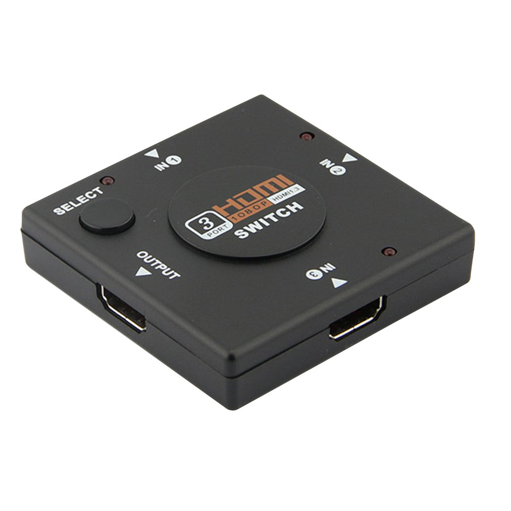Hdmi Mini Switcher 3 Devices To 1 Tv Switch Box 3 Way Selector 1080P 3 In 1 Out Hdmi Splitter Support 3D