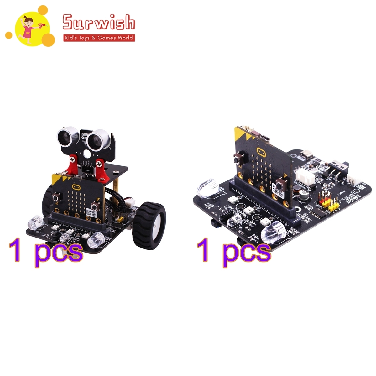 Graphical Programmable Robot Car With Bluetooth IR & Tracking Module Stem Steam Robot Car Toy For Micro:bit BBC +Expansion Board