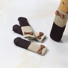 Новое поступление, вязаный чехол для ножки стула, носки для дома, Нескользящие ножки для стола, рукав, Чехол для стула, защита для пола
