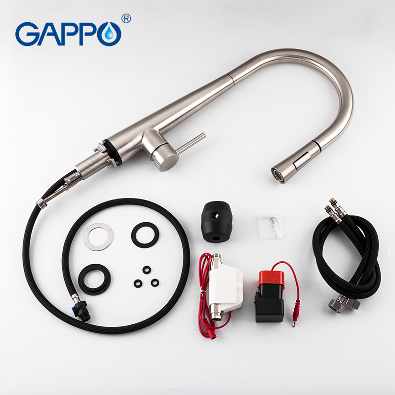 GAPPO сенсор Кухонные смесители Smart Touch Индуктивные чувствительные смесители Смеситель для воды кран с одной ручкой выдвижной Кухонные смесит... - 4