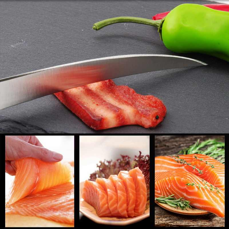 Nóż kuchenny 7 Cal nóż do trybowania wysokiej jakości nóż ze stali nierdzewnej do mięsa kości ryby owoce warzywa narzędzie do gotowania