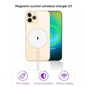 15W Magnetic Wireless Charging Pad Fast Charging Wireless Charger For iPhone 12 Pro 12 Pro Max car phone charger image