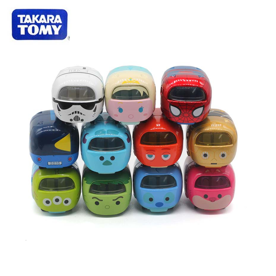 New Original TAKARA TOMY  Tomica Superimposed Alloy Car Michminy Tigger Tigger Cartoon TSUM Model Toys  Car Toys