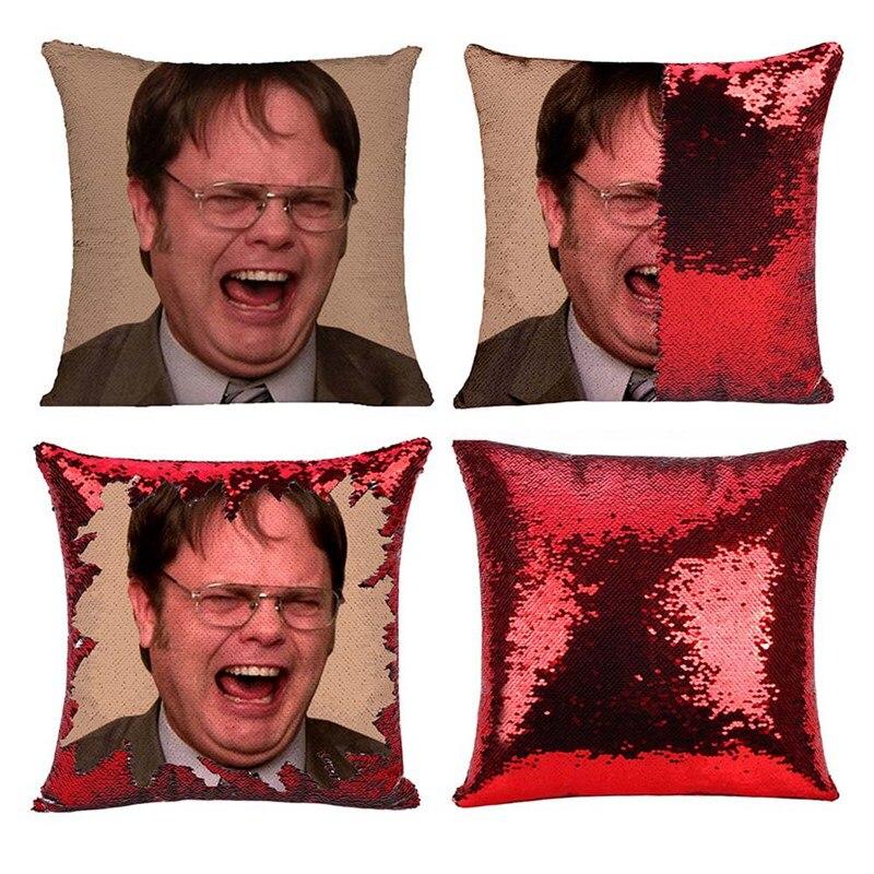 Cotton Linen Throw Pillow Case - The Office Tv Show Pillow -