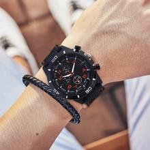 2019 Luxury Brand rubber Quartz Watch Men Military Sports Watches Fashion Wrist Watch Wristwatches three-eyes relogio masculino