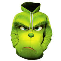 Moda męska Shrek/Grinch 3d bluzy Shrek koszula śmieszne bluza z kapturem hiphopowy sweter 3d nadruk bluzy S-6XL