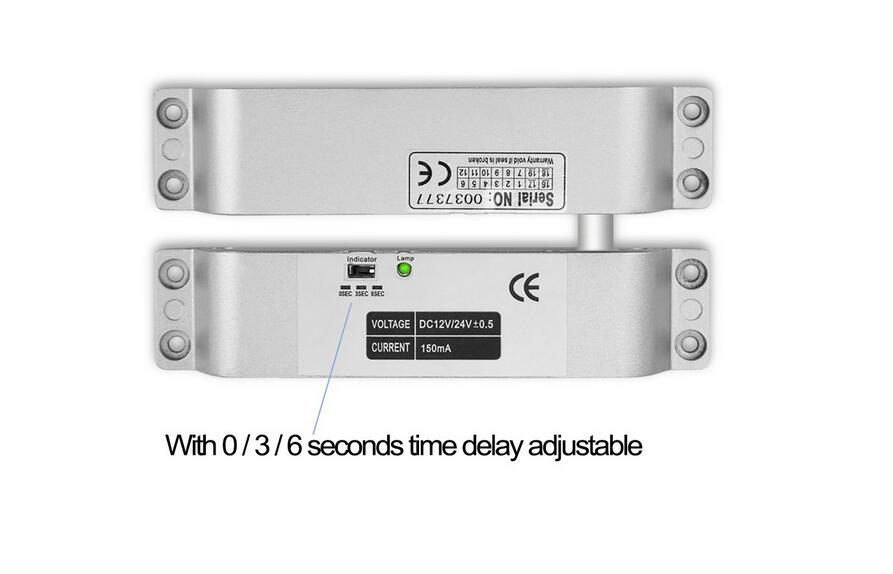 porta controle acesso segurança tempo atraso 0 3 6 9
