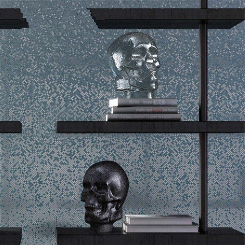Tête de crâne en poudre scintillante créative Portraits Statue en verre Borosilicate haute salle de séjour ornements de meuble TV X2648