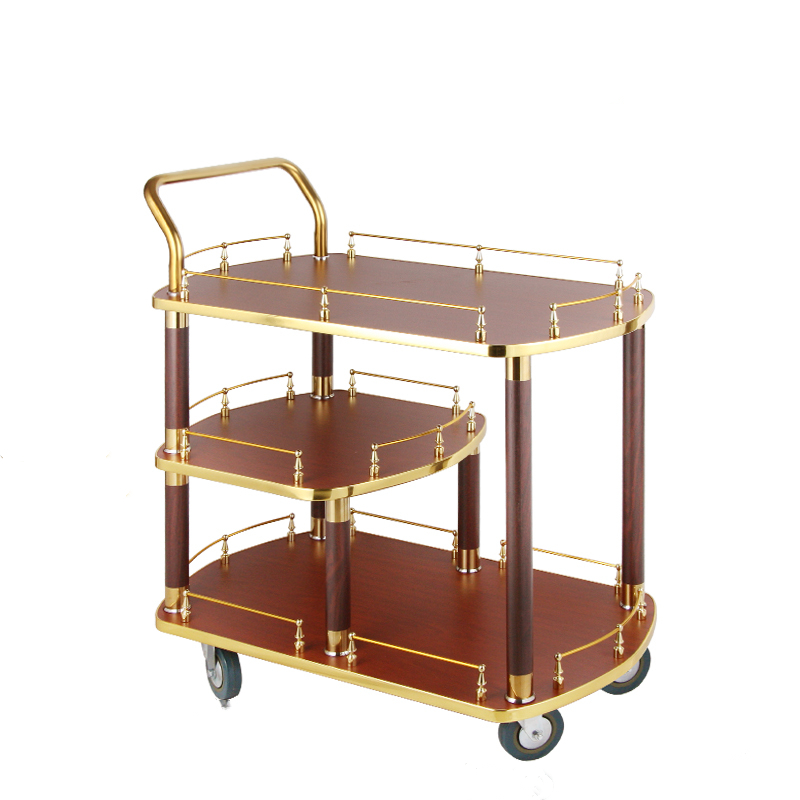 The Hotel Restaurant Supplies The Stainless Steel Wine Truck Tea Cake Truck 4S Store Trolley.