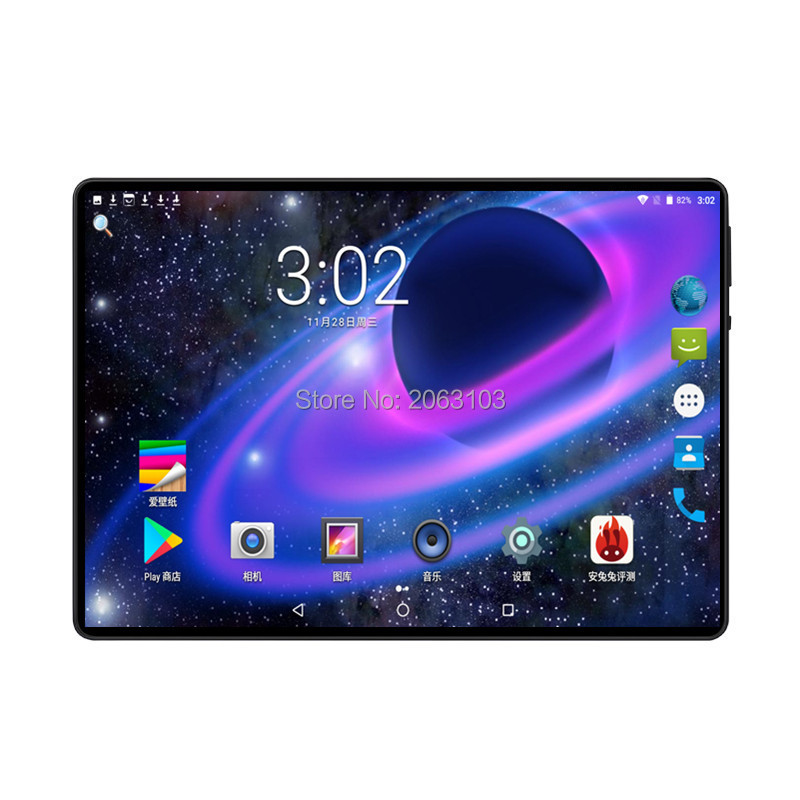 BOBARRY 10 Inch Tablet PC Ocat Core 6GB RAM 128GB ROM Android 9.0 GPS Dual SIM Cards 1920*1200IPS 3G 4G LTE Phone Tablet 10 10.1